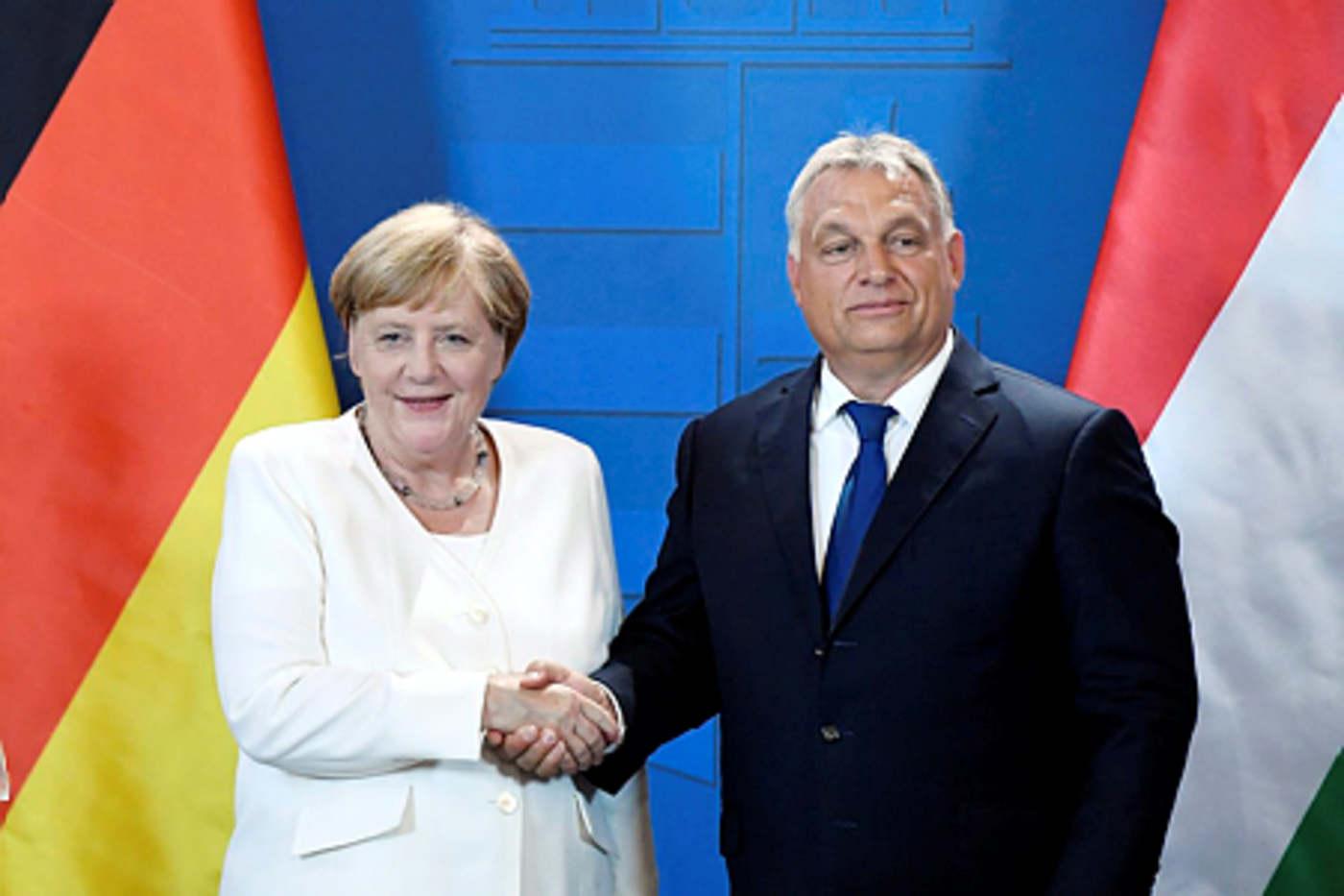 Angela Merkel német kancellár és Orbán Viktor magyar kormányfő