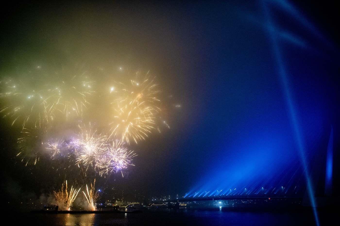 Rotterdamban nem várták meg az éjfél a tűzijátékkal