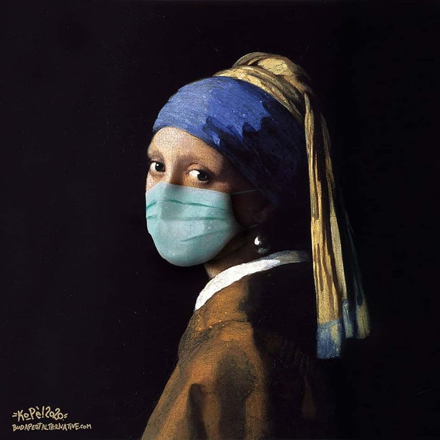 Klasszikus festmények a koronavírus jegyében