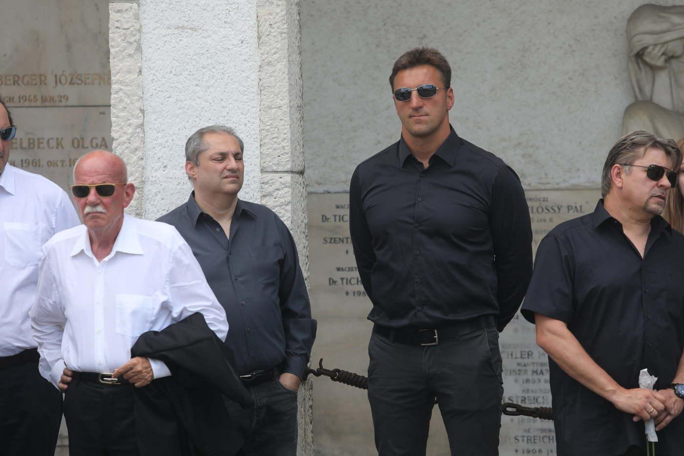 Hajdú B. István, sportkommentátor (balra) és Kiss Gergely, háromszoros olimpiai bajnok vízilabdázó