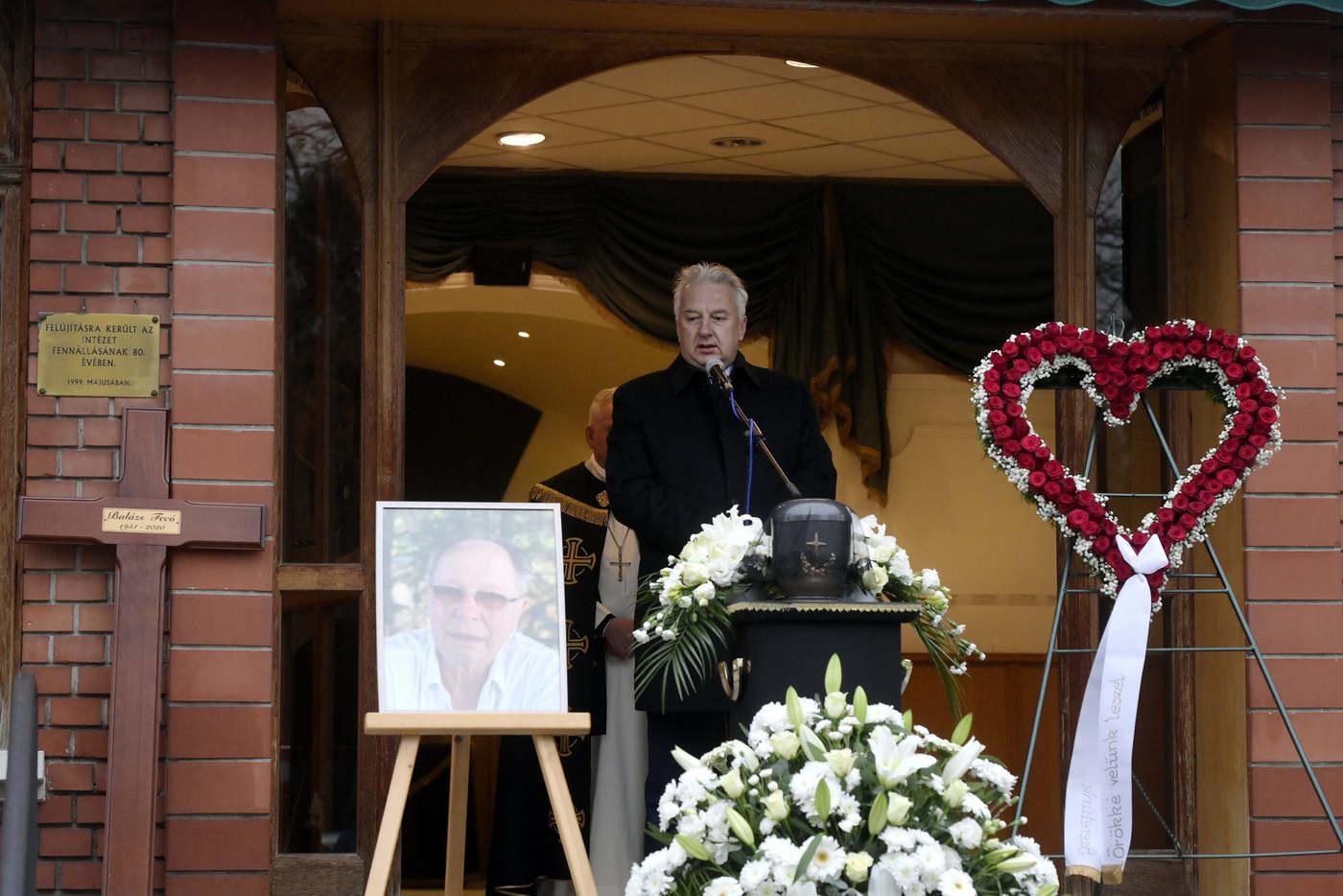 Semjén Zsolt miniszterelnök-helyettes is a búcsúztatók között volt (Fotó: MTI / Koszticsák Szilárd)