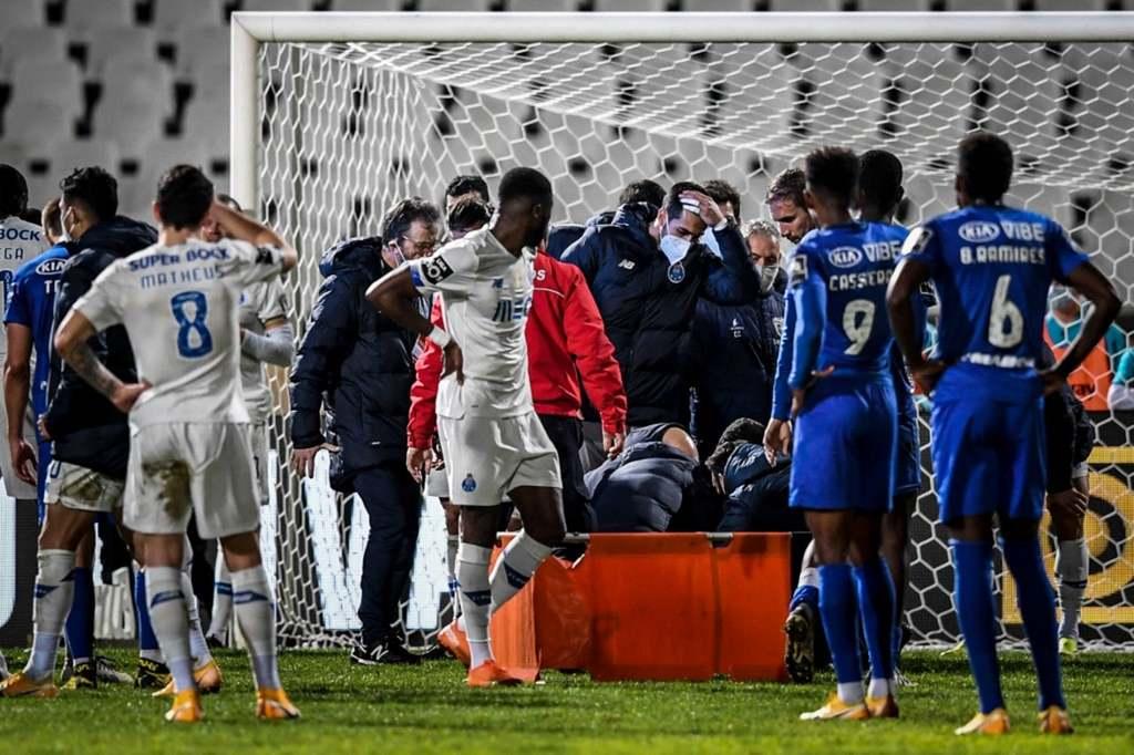 Nanu sérülése a Belenenses-Porto meccsen