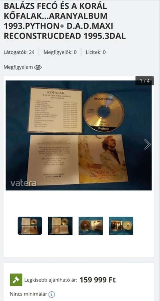 Mélységesen felháborító: ennyiért árulják a neten az elhunyt Balázs Fecó lemezét
