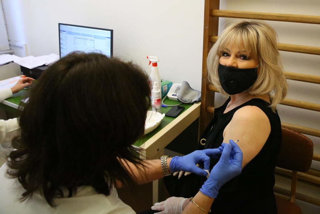 Balázs Klári is megkapta a védőoltást