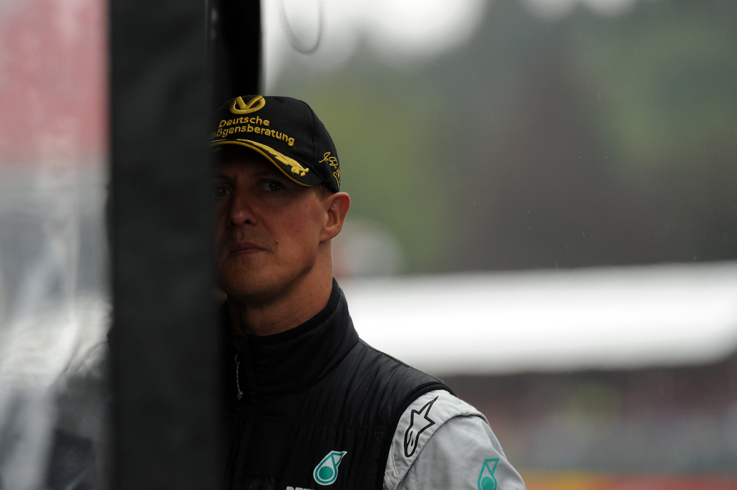 Michael Schumacher 2011-ben Spában, már Mercedes-pilótaként