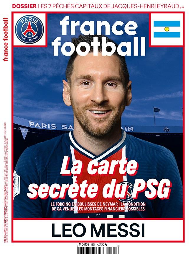 Messi a PSG mezében látható