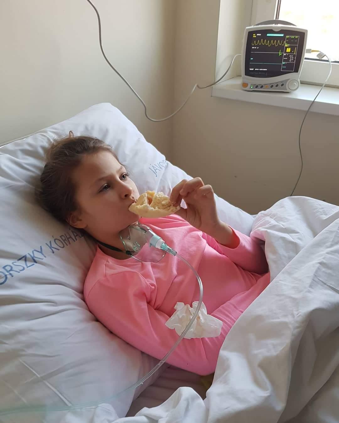 Laky Zsuzsi kislánya, Luca betegség