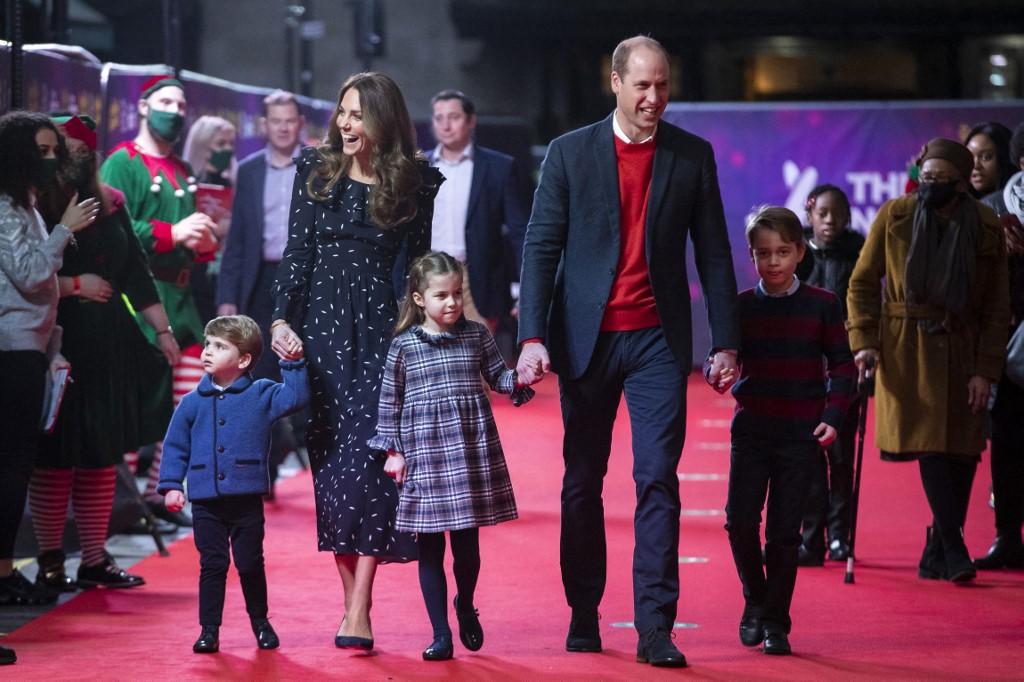 Vilmos herceg, Katalin hercegné és gyerekeik