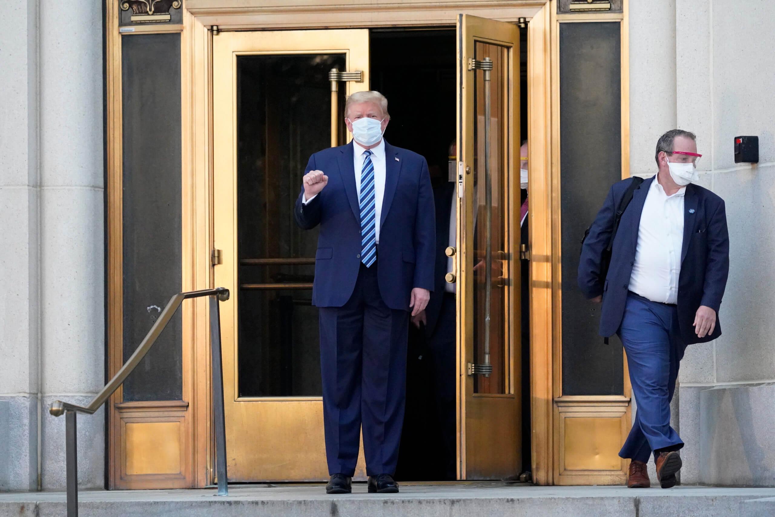 Donald Trump még tavaly októberben került kórházba koronavírus fertőzéssel