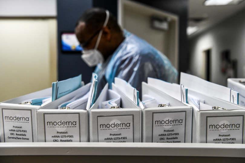 Amerikában tesztelik a Moderna-vakcinát.