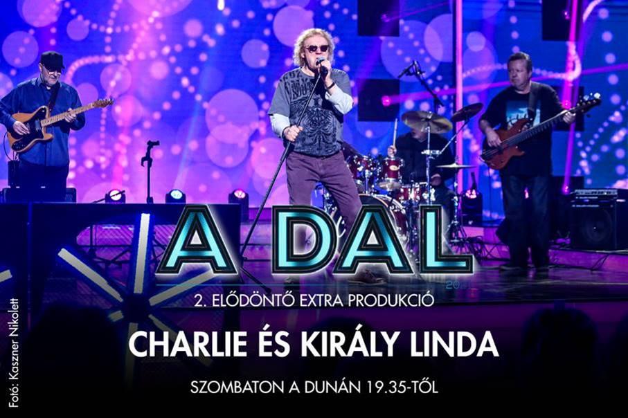 A Dal 2021 szombati adásában Charlie énekel majd Király Lindával.