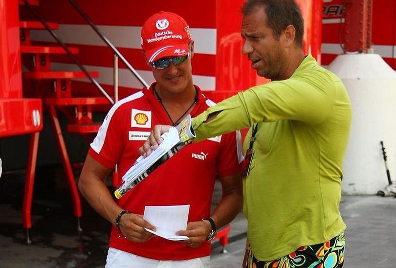 Michael Schumacher és tévés cimborája, Kai Ebel