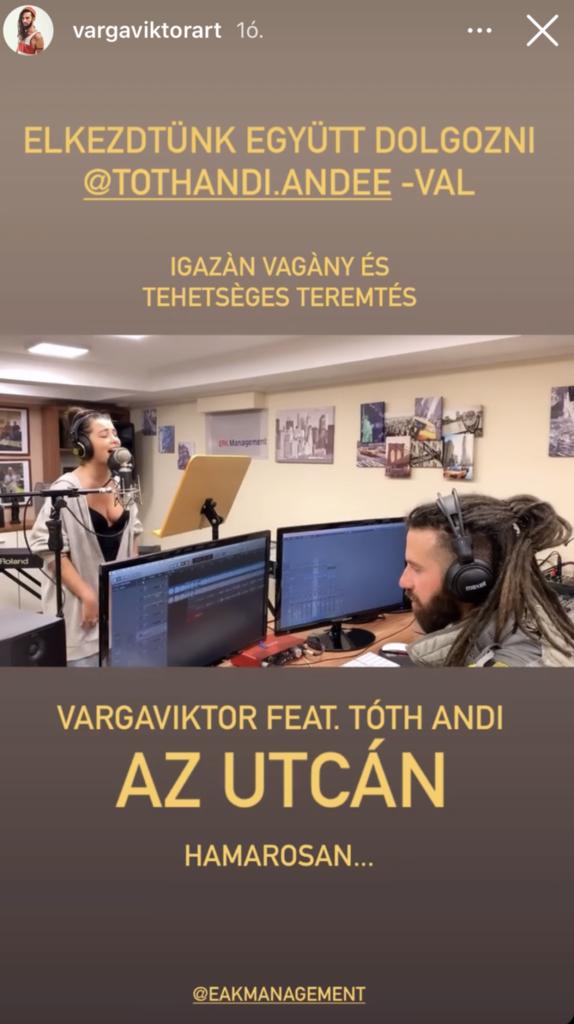 Közös produkción dolgozik Tóth Andi és Varga Viktor
