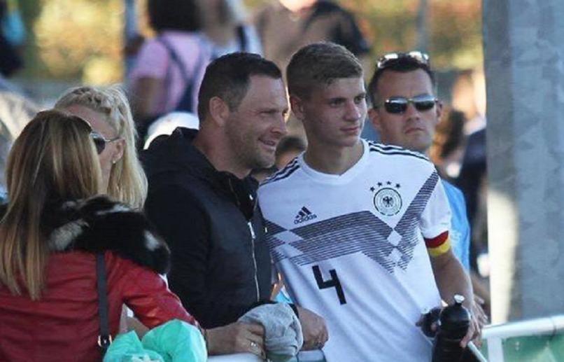 Dárdai Pál és Márton egy korosztályos német válogatott meccsen
