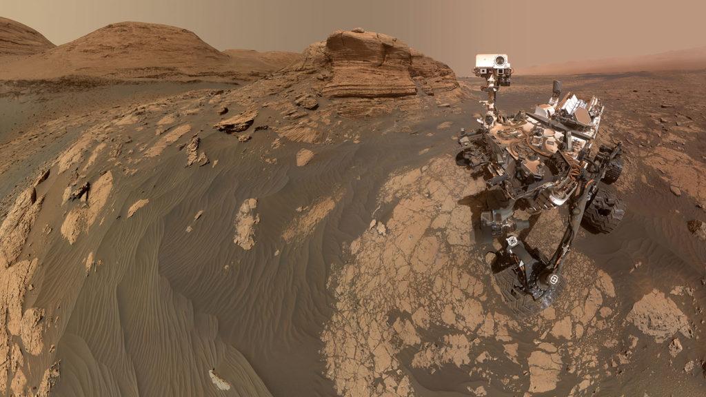 A Marson szelfizett a Curiosity