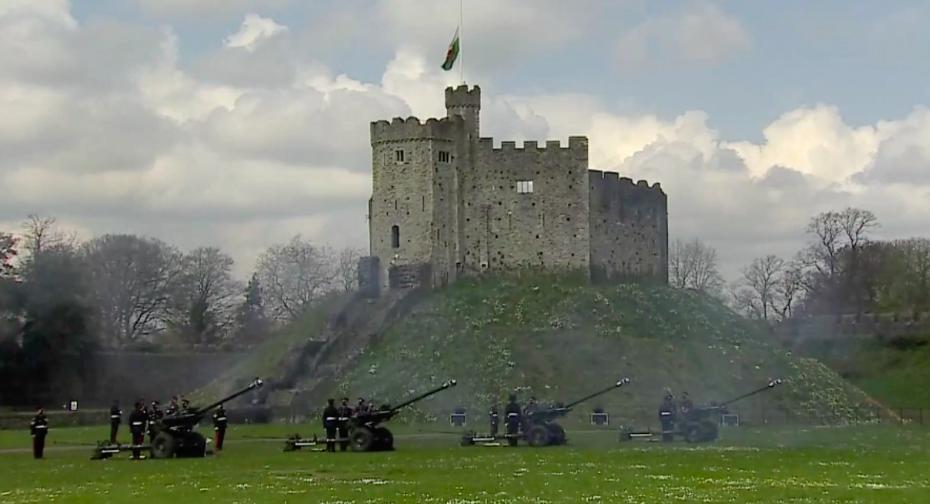 Fülöp herceg emlékére katonai tiszteletadás volt Angliában
