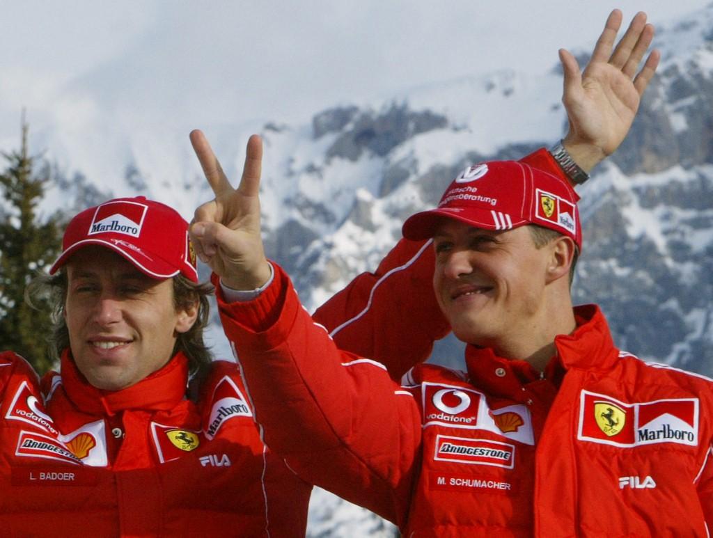 Badoer (balra) és Schumacher: kollégákból testi-lelki jó barátok lettek