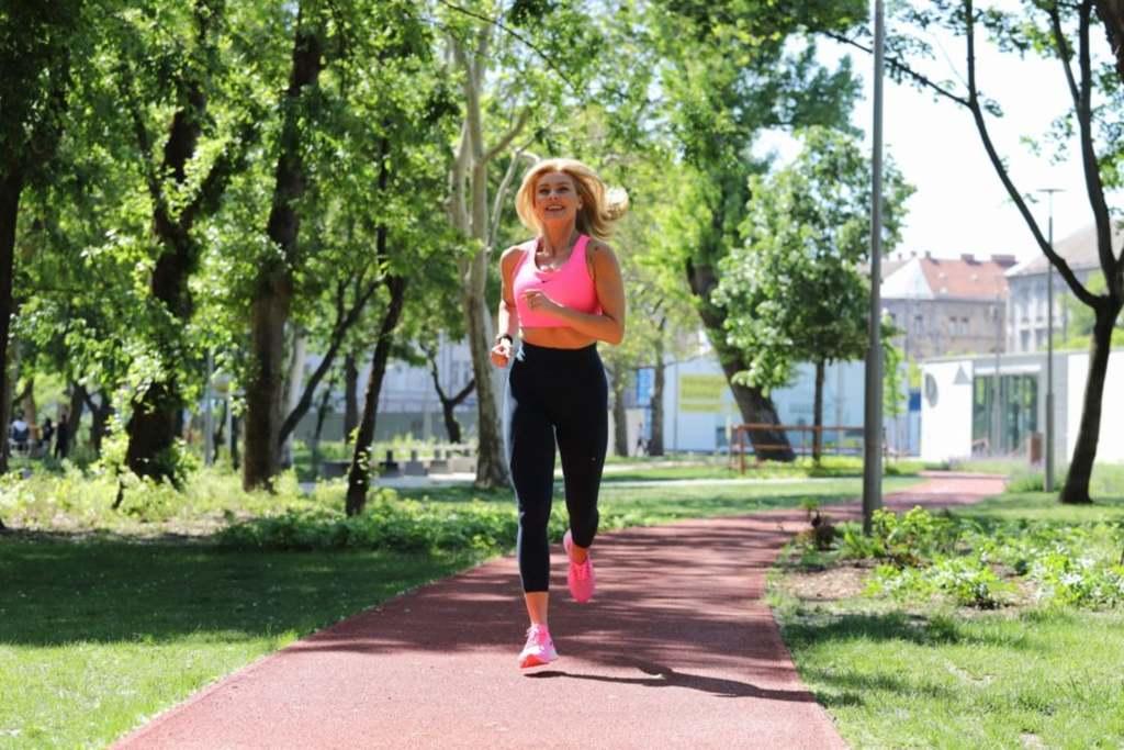 Barta Sylvia imádja a Városligeti futópályát