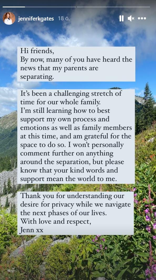 Megható üzenet Bill Gates lányától