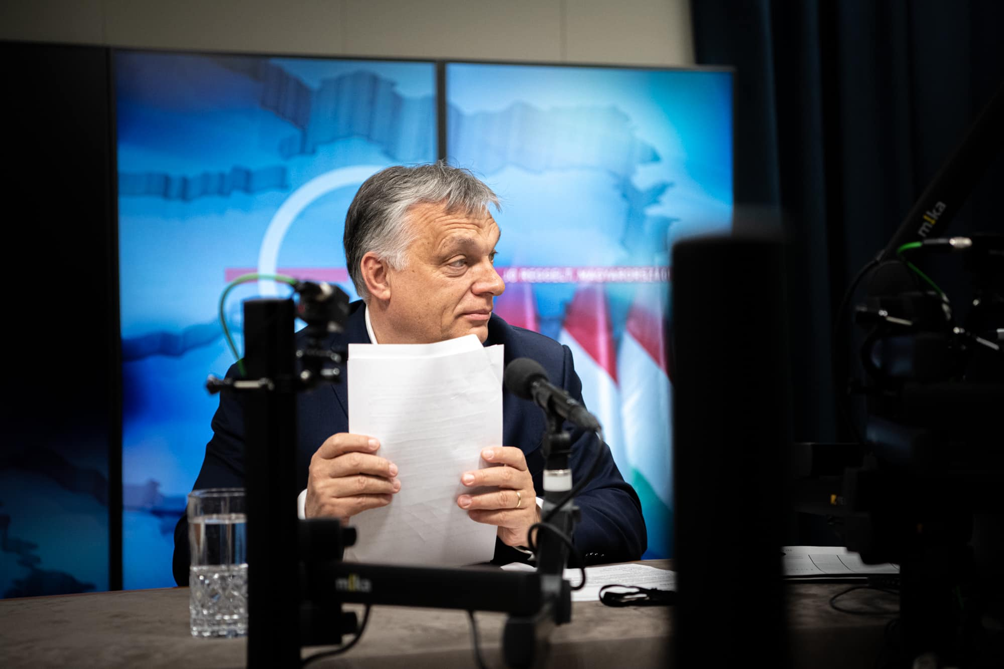 Orbán Viktor a Kossuth Rádióban adott interjút