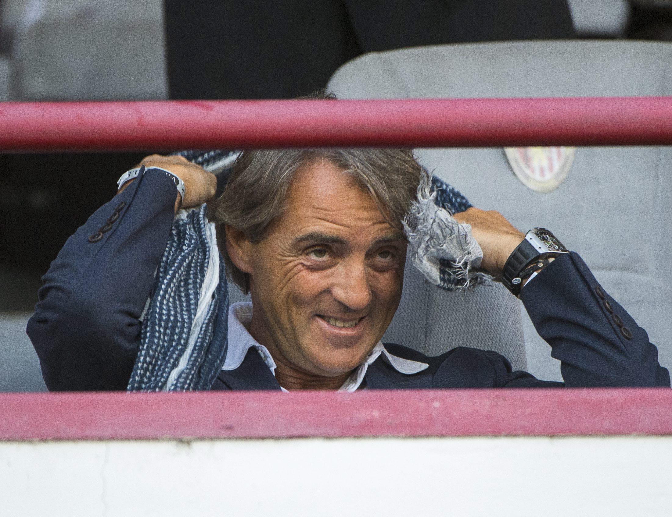 Roberto Mancini 2013-ban a kispesti Bozsik-stadionban