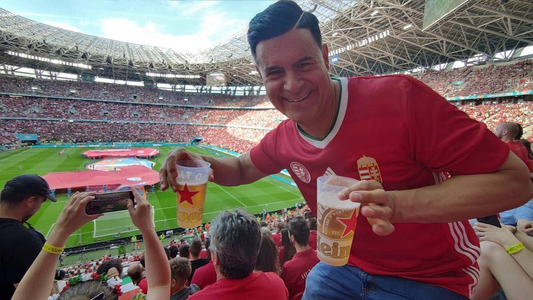Dan Leal magyar válogatott mezben a Puskás Arénában
