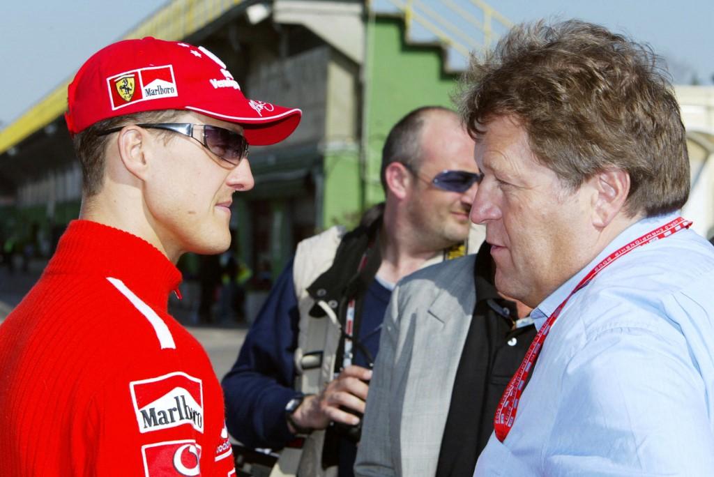 Schumacher (balra) és Haug 2003-ban