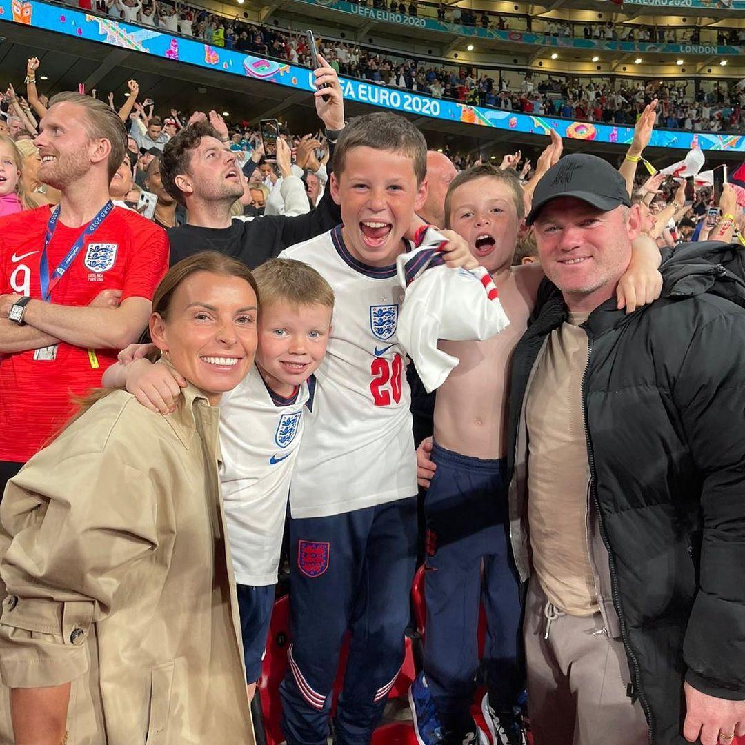 Coleen és Wayne Rooney között a fiaik