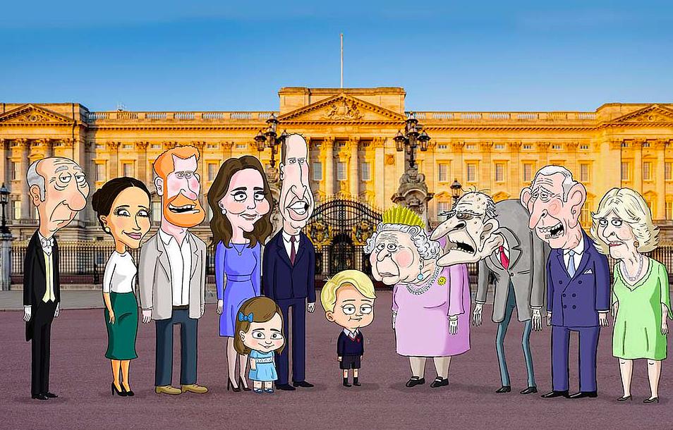 Paródia rajzfilm készült a brit királyi családról