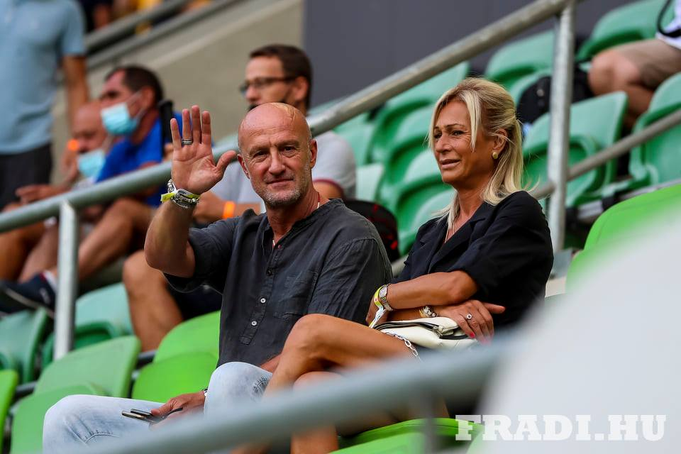 Marco Rossi és felesége, Mariella a Fradi-Kisvárda meccsen