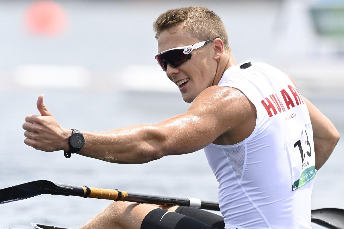 Kopasz Bálint a kajak-kenusok Sea Forest-pályáján a tokiói olimpián