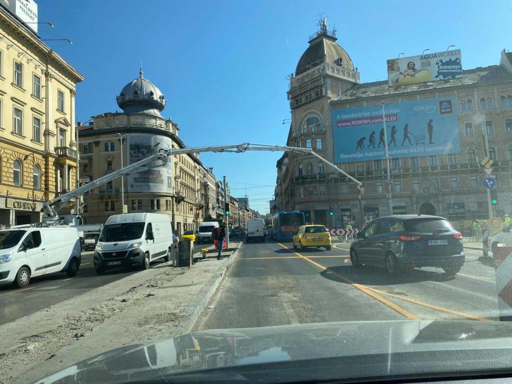Egy extrémebb a közlekedési helyzet a Blahán