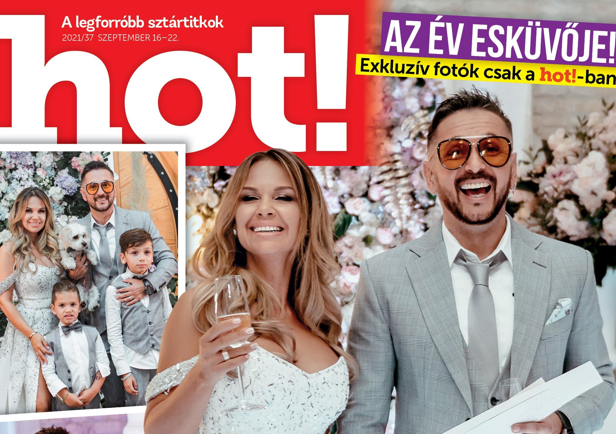 Majka és Dundika exkluzív esküvői képek és beszámoló a hot! magazinban