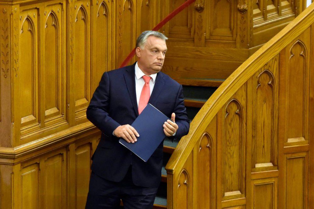 Orbán Viktor az Országgyűlésben tartott beszédet