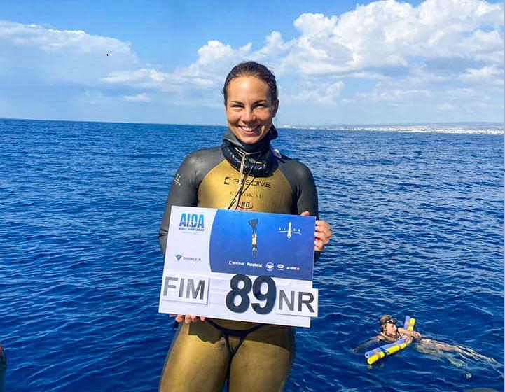 Korok Fatima 89 méteres mélységet járt meg egy levegővel
